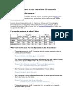 (Lingolia) Personalpronomen in der deutschen Grammatik