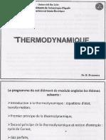 Thermodynamique GBI