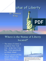 Class Powerpoint on the Statue of Liberty from Rebecca at Clayton Middle School