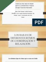 1 LOS BAILES DE DIFERENTES RITMOS, DE COORDINACIÓN