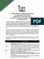 Agenda Nacional por la Niñez firmada por el candidato Luis Castañeda Lossio