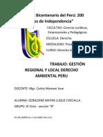 EL MINISTERIO PUBLICO Y EL DERECHO AMBIENTAL
