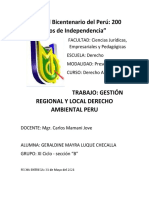 GESTION REGIONAL Y LOCAL DERECHO AMBIENTAL