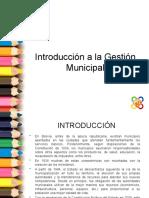 1. Introducción a la gestion municipal