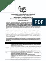 Agenda Nacional por la Niñez firmada por el candidato José Antonio Ñique