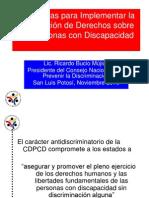 Conferencia Estrategias Para Implementar La CDPCD, SLP Noviembre 2010