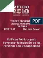 Politicas Publicas Para Personas Con Discapacidad