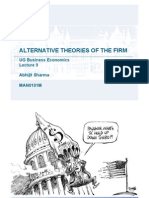 Lecture9_Alternative_theories_of_the_firm_Wk9