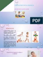 ASPETOS FISIOLOGICOS CRIANCA