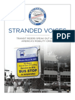 Stranded Voices Transit Riders Speak Out About America'S Mobility Crisis (PDF) - The Amalgamated Transit Union