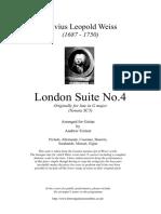 London Suite No.4 Sylvius Leopold Weiss