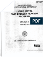 Liquid Metal Fast Breeder Reactor Program (Proposed Final Environmental Statement)(Volume V - December 1974)
