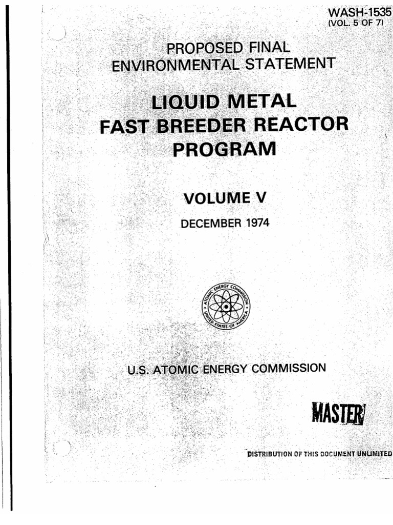 Liquid Metal Fast Breeder Reactor Program (Proposed Final ...