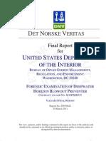DNV Report EP030842 for BOEMRE Volume I