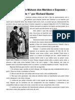 Parte  1 - Os Deveres Mútuos dos Maridos e Esposas – por Richard Baxter