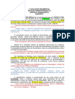 GABARITO 1ª Avaliação Regimental - Estágio Supervisionado III (60931) - com grade de correção