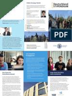 Deutschlandstipendium Marburg | Flyer