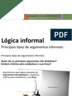 4 - Lógica informal - tipos de argumentos informais (1)