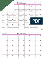 Cronograma de Estudo Mês Julho 2021