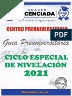 GUIA UNIVERSITARIA_CICLO ESPECIAL 2021 DEL CPU-UNASAM