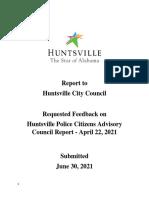 HPCAC report response