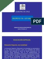 DECRETO 170 EDUCACION ESPECIAL