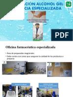 PREPARACIÓN ALCOHOL GEL  FARMACIA ESPECIALIZADA