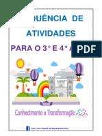 SEQUÊNCIA DE ATIVIDADES DO 3° ANO. PDF