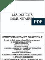 4. Déficits Immunitaires, Par Dr. Bouamra