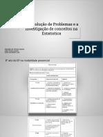 A Resolução de Problemas e a Investigação de Conceitos Na Estatística (1)