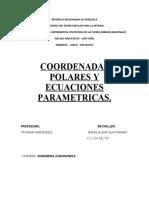 COORDENADAS POLARES Y ECUACIONES PARAMETRICAS