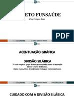 SLIDE AULA 01 PORTUGUÊS FUNSAÚDE