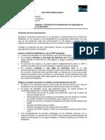 Actualización a Procedimientos de Seguridad Planta de Moly