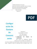 Configuración De Equipos De Comunicación