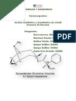 analisis cuantitativo y cualitativo de la hioscina