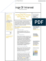 10 Ways Not to Create Content for Your Weblog @ Things of Int