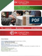 Encuesta Provincia de Córdoba - 28 a 01 de Julio de 2021 - 1311 Casos - 2,7% Margen de Error
