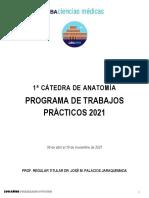 Programa Analítico 2021 - Primera Cátedra de Anatomía