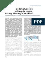 DEPLANO 019 ABR-10. Pp. 14-17. EL Cálculo de Longitudes de Anclaje y Solape de Barras Corrugadas Según La EHE-08 (1)
