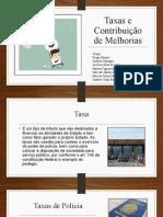 Taxas e Contribuição de Melhorias