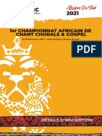 DÉTAILS D'INSCRIPTION African Choral and Gospel Championship SOUTH AFRICA 2021 (FRENCH)LINK