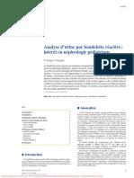 Analyse d'urine par bandelette réactive intérêt en néphrologie pédiatrique AKOS