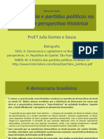 aula democracia e partidos políticos no Brasil 1