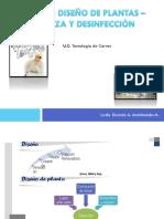Tema 21 DISEÑO DE PLANTAS - LIMPIEZA Y DESINFECCIÓN. Tecnología de Carnes