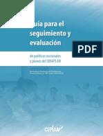 Guía Para El Seguimiento y Evaluación de Políticas Nacionales y Planes Para El SINAPLAN - CEPLAN