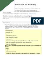 Angular e instalación de Bootstrap original