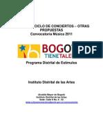 Concurso Ciclos de Conciertos Otras Propuestas