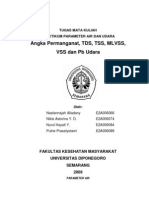 Pemeriksaan Parameter Air & Udara Angka Permanganat Tds, Tss, Mlvss, Vss Dan Pb Udara