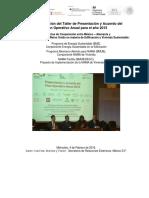 Taller Planeacion GIZ 2015-Informe