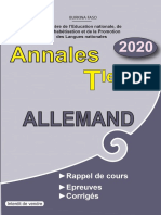 Annales Allemand Tle A